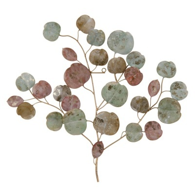 Peça em metal decorativa de parede folhas  65 X 3,20 X 60 CM