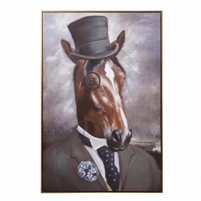 Quadro tela  cavalo gentleman 80x120
