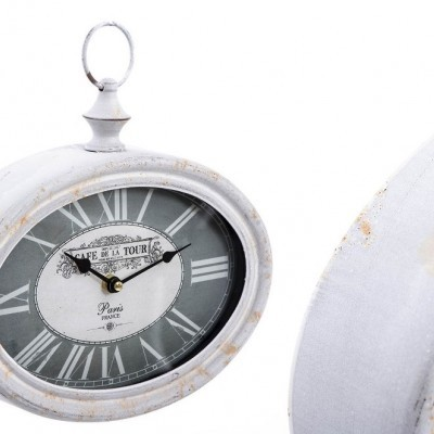 Relógio oval de Parede Metal