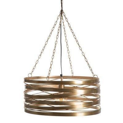 Candeeiro de teto aros dourados mate 51,50 X 51,50 X 28,50 CM