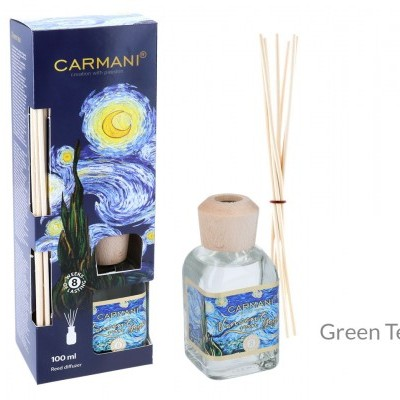 Mestres da pintura - V. Van Gogh - Noite Estrelada - Mikado aroma Chá Verde