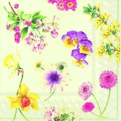 Guardanapos de papel Flores varias
