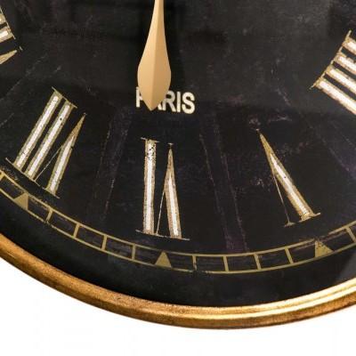 Relogio dourado e preto 80 cms de diametro