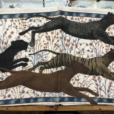 Capa Almofada Tessitura 100% linho Leopardo 40*60