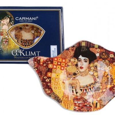 Mestres da pintura - Klimt- Adele - Pousa saquetas chá Vidro