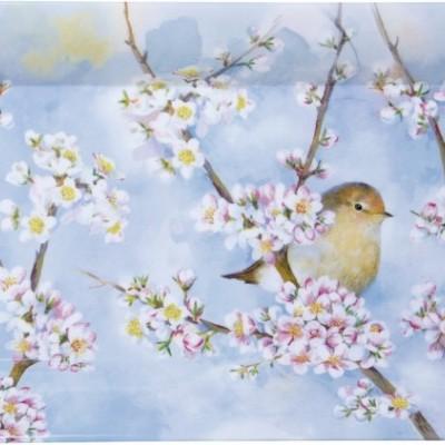 Tabuleiro de pequeno almoço em melamina ,passarinhos e flores