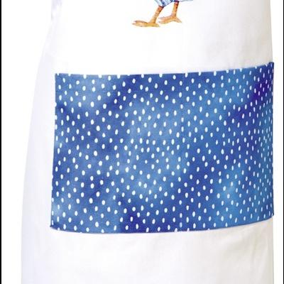 Avental algodao galo azul