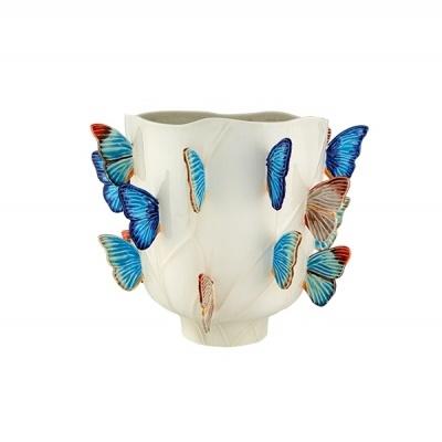 Bordallo Pinheiro - Jarra/vaso Grande Cloudy Butterflies - Claudia Schiffer
