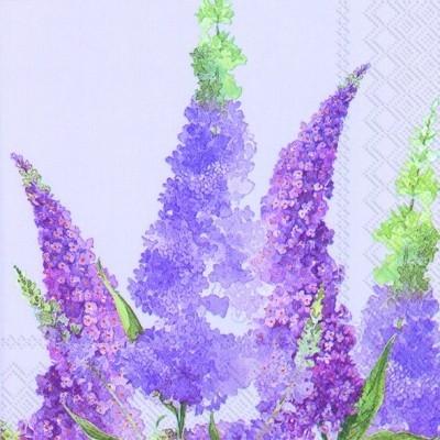 Guardanapos de papel Lilases fundo lilas
