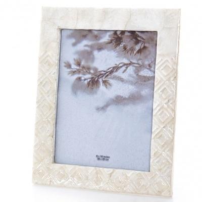 Moldura madreperola branco lousangulos 20x25cms