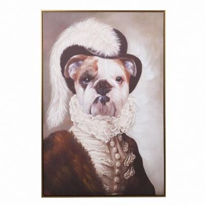 Quadro tela Bulldog aristocrata 80x120