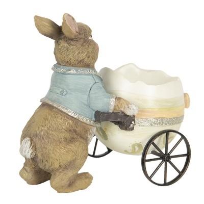 Figura coelho com ovo de rodas