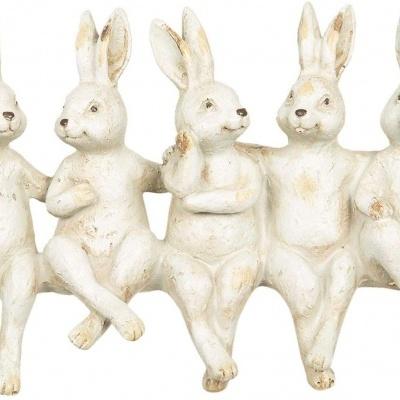 Grupo de coelhos para sentar bordo movel