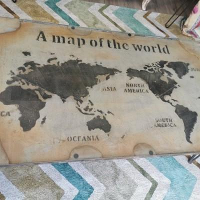 Mesa de centro mapa do mundo