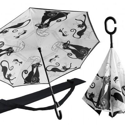 Mestres da pintura-Gatos-Chapéu de chuva