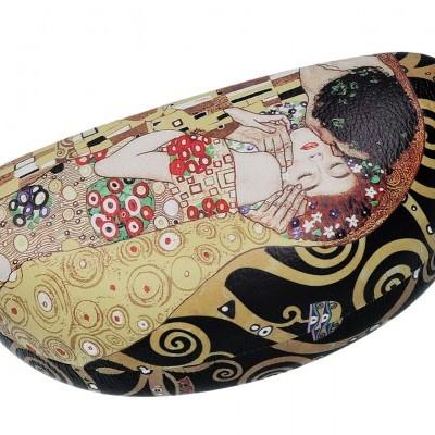 Mestres da pintura-Klimt , O beijo Caixa para oculos