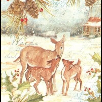 Guardanapos de papel Familia bambi