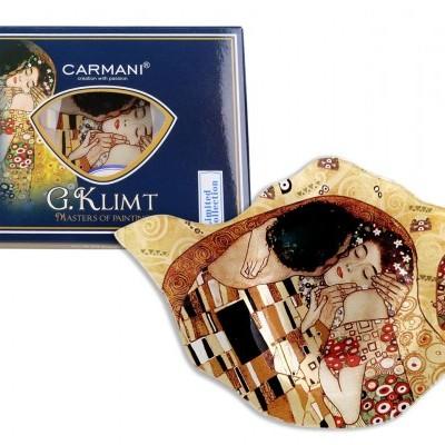 Mestres da pintura - Klimt- O Beijo - Pousa saquetas chá Vidro