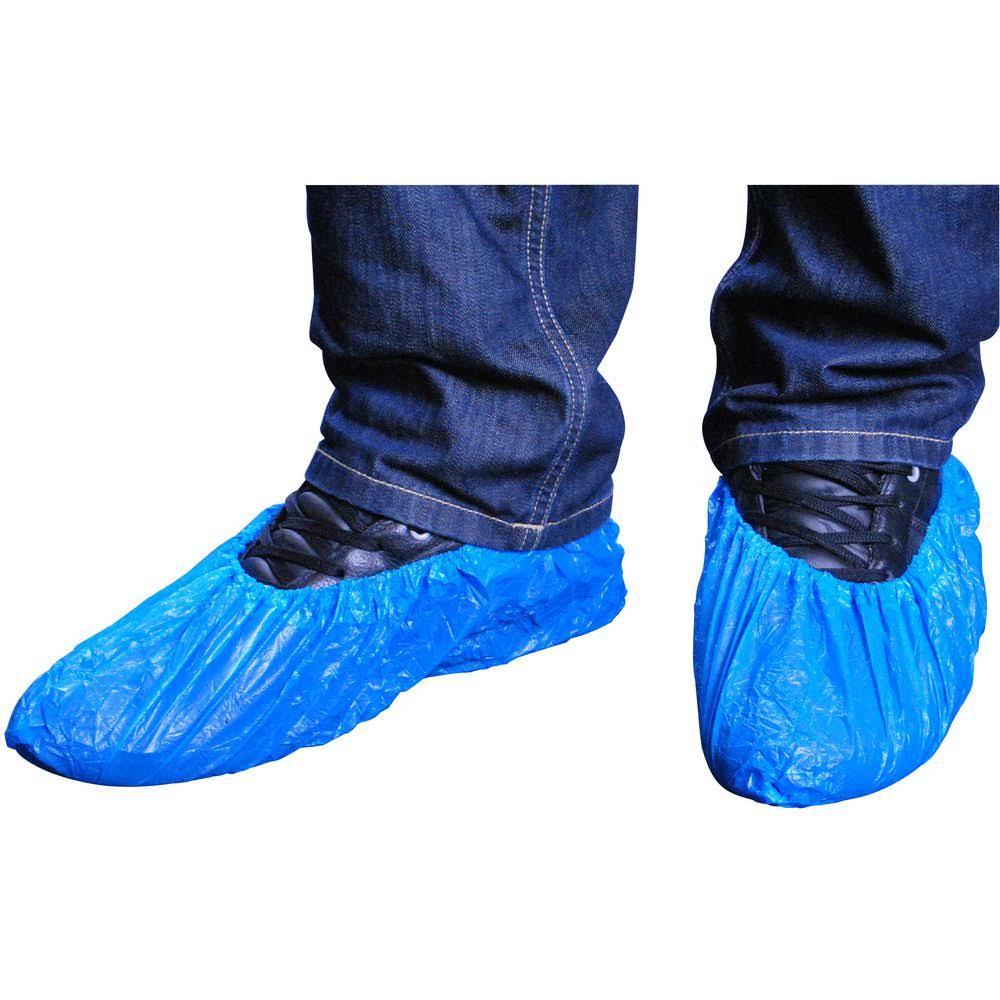 Capa p/sapatos PVC azul pc.100