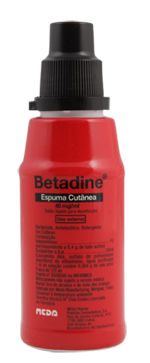 Betadine sol. Espuma cutânea 500ml (Vermelho)