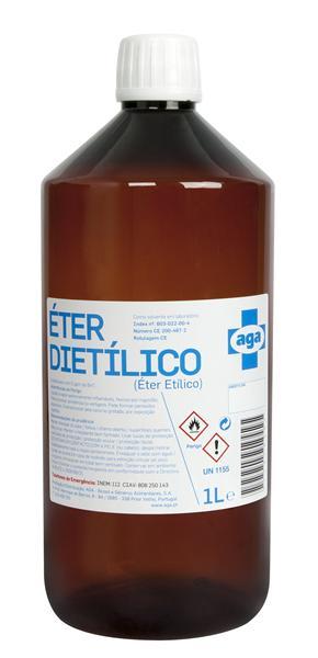 Éter sulfúrico frs. 1 litro