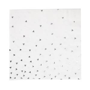 Guardanapos branco e prata