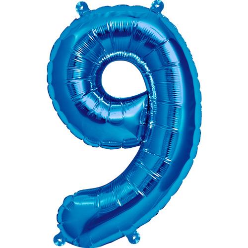 Balão numero 9 azul
