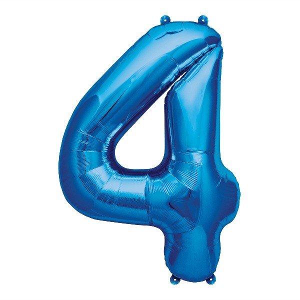 Balão numero 4 azul