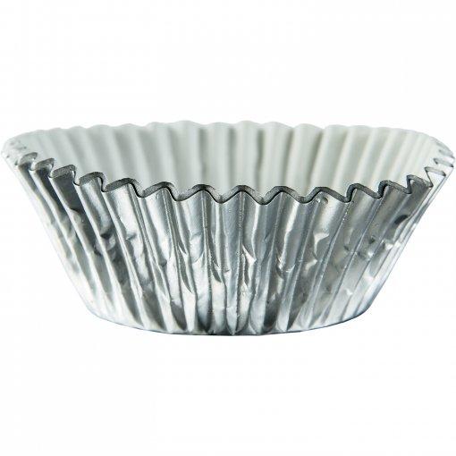 Formas cupcake foil prata