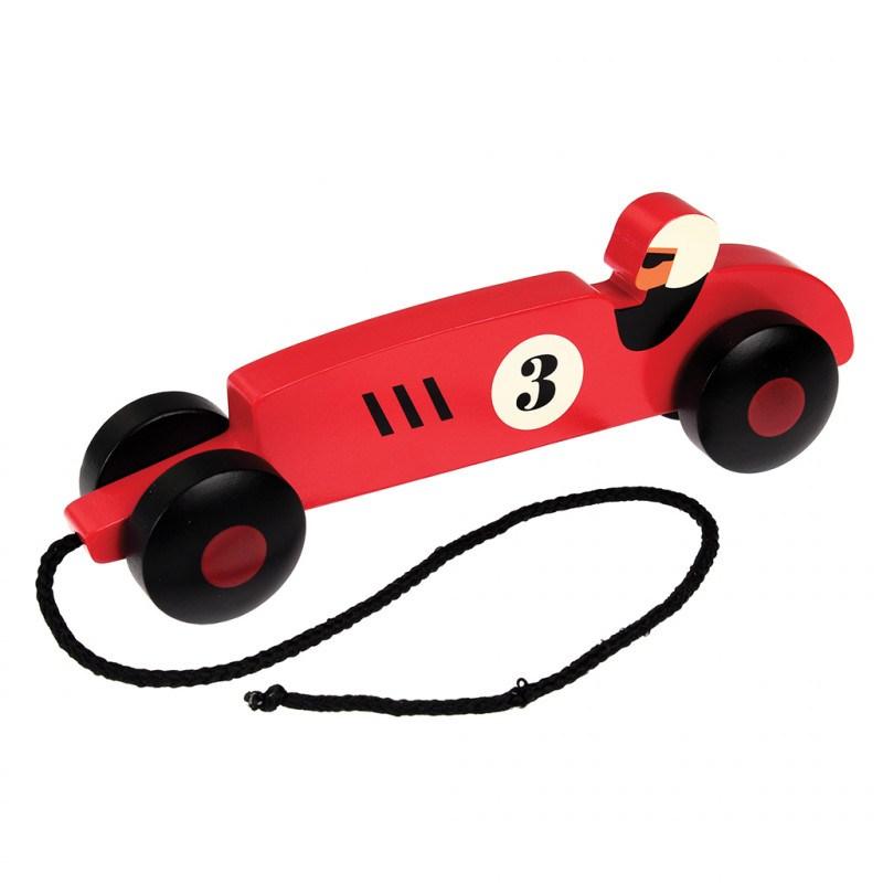 Carro corrida de madeira