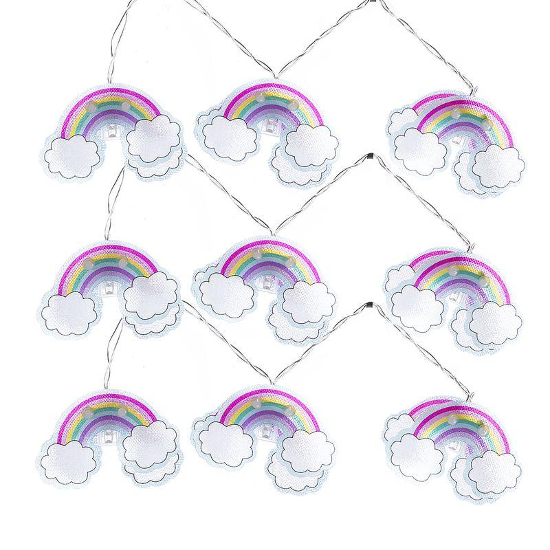 Grinalda de luzes arco-íris