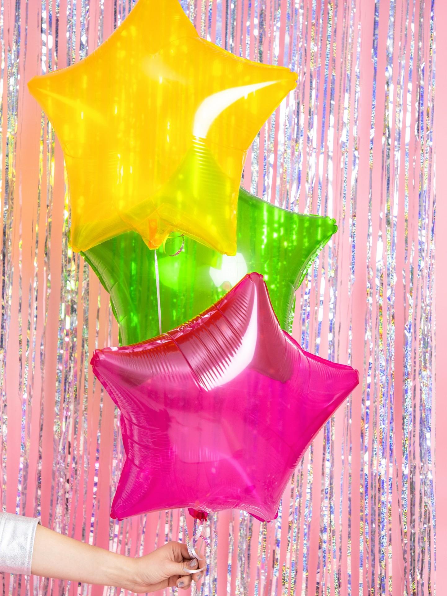 Balão estrela 48cm rosa