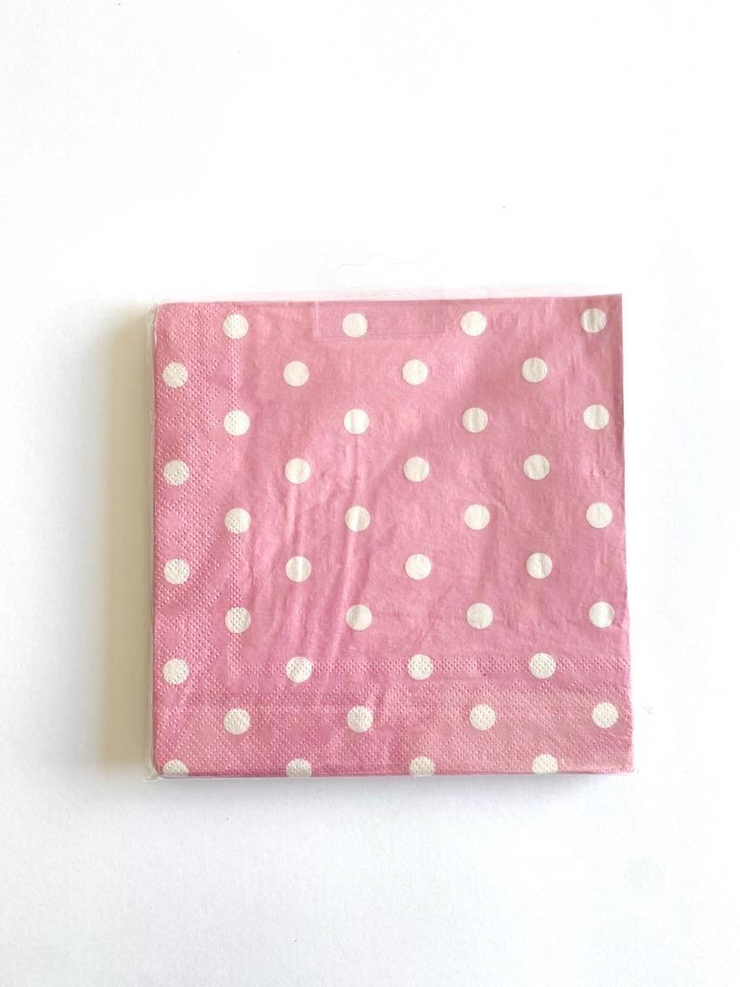 Guardanapos rosa dots