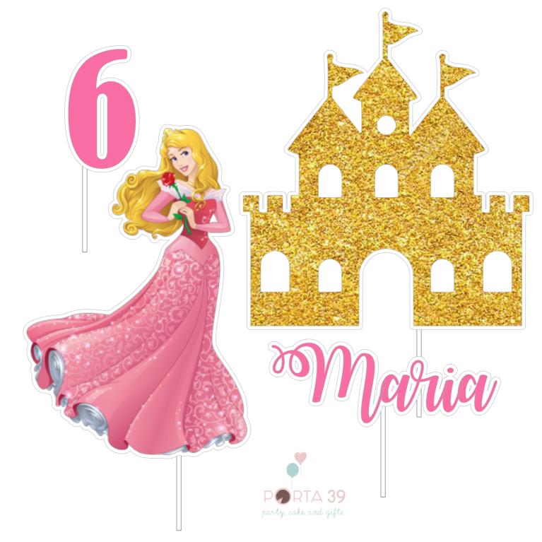Cake topper Princesa Aurora