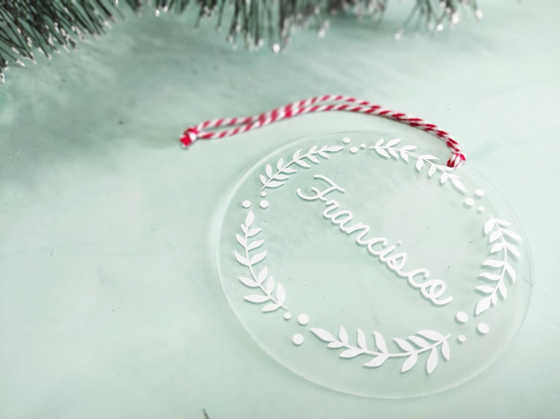 Bola Natal acrílico personalizada