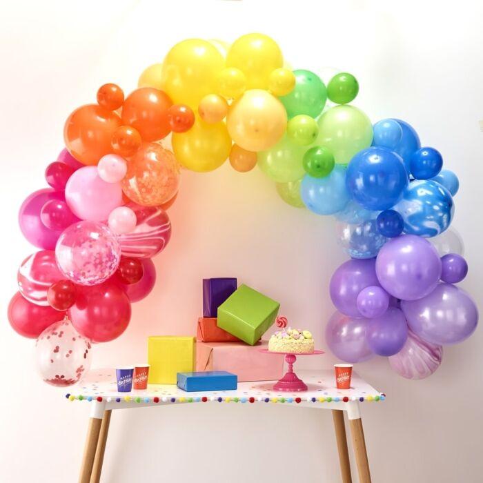Arco de balões colorido
