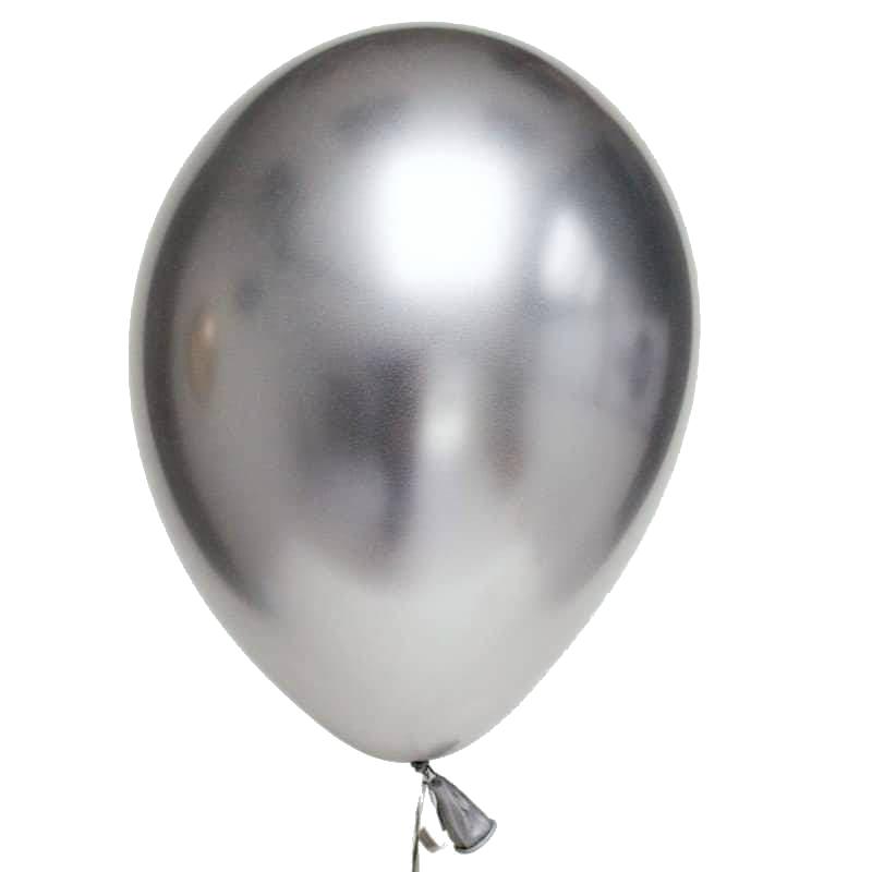 Balão látex 30cm silver metalizado