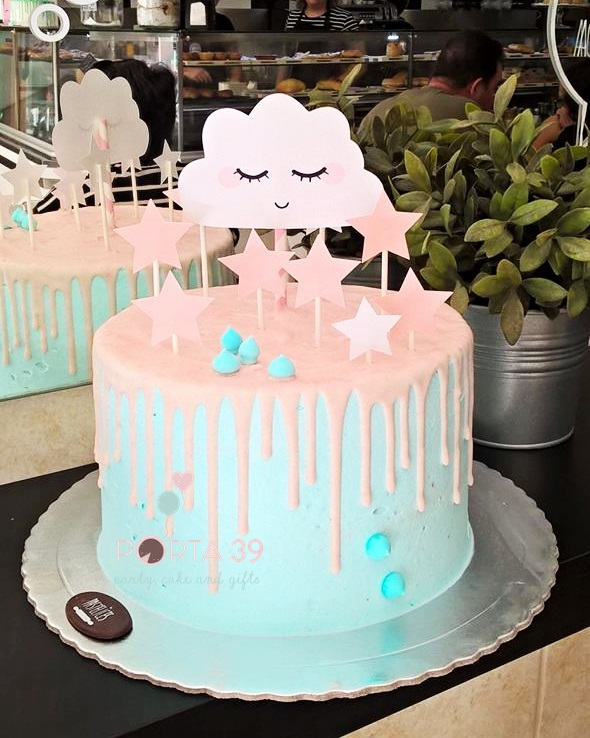 Cake topper nuvem