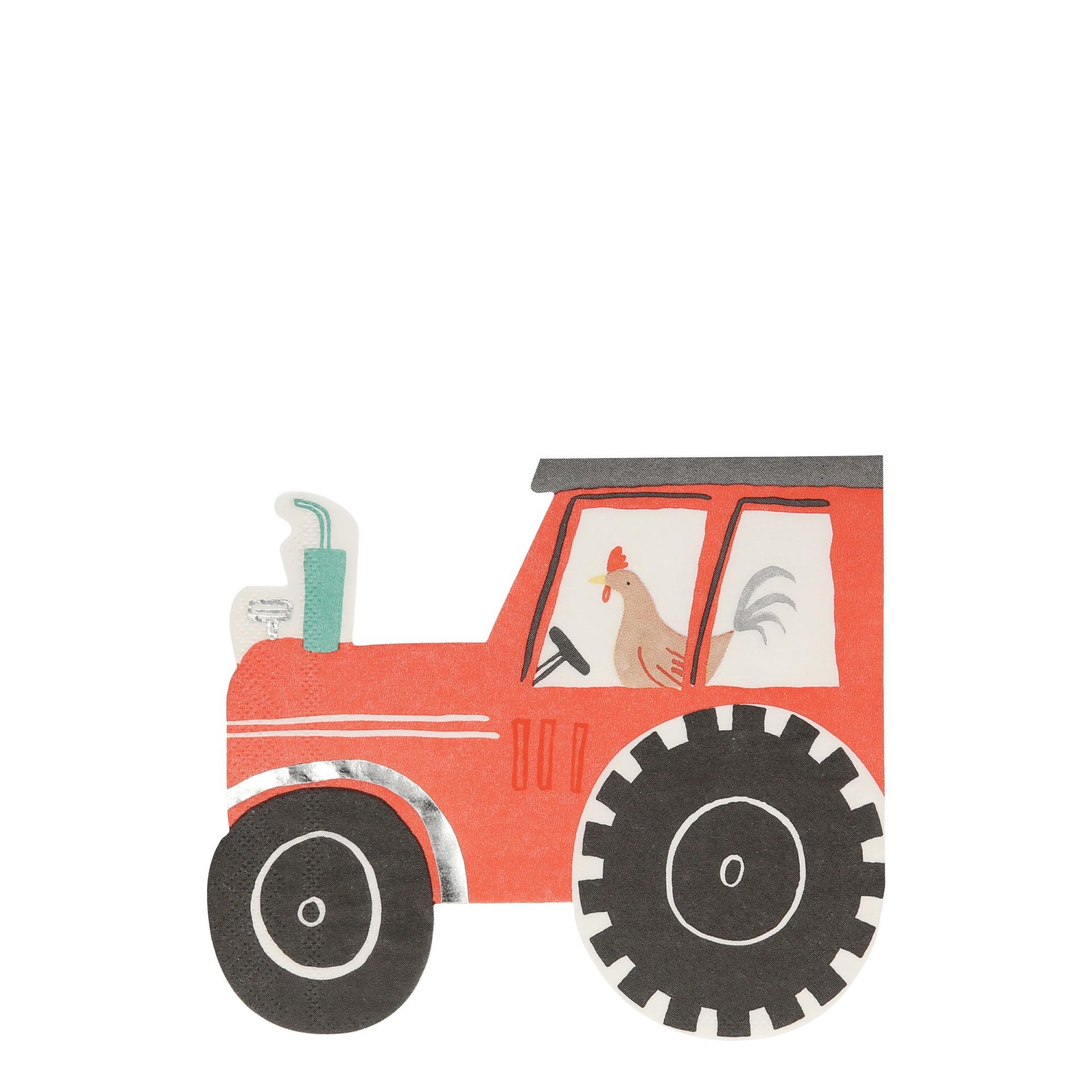 Guardanapos tractor