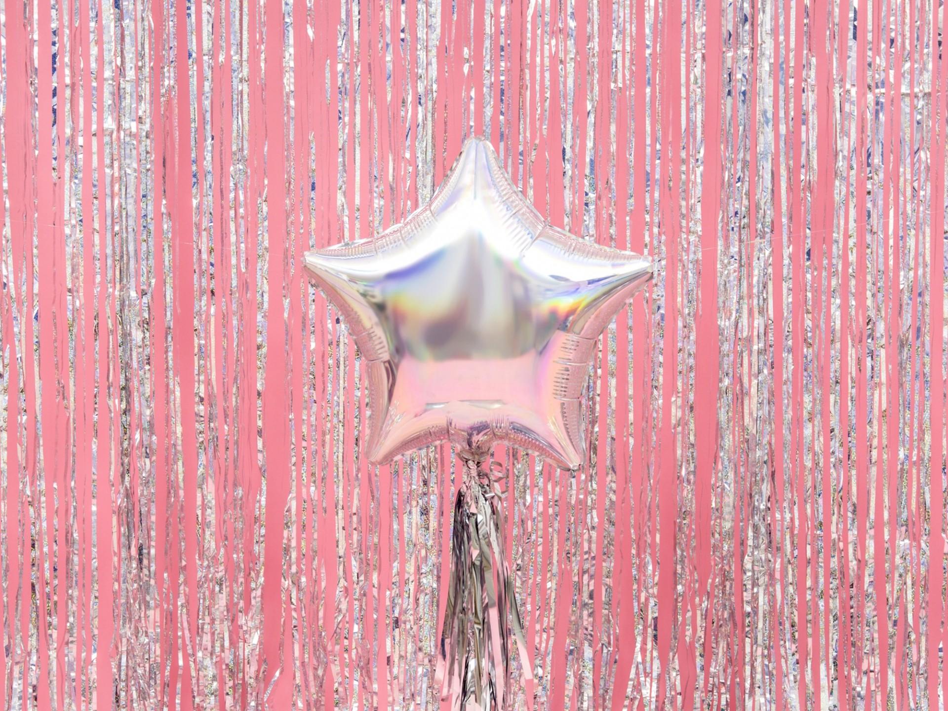 Balão estrela 48cm iridescente