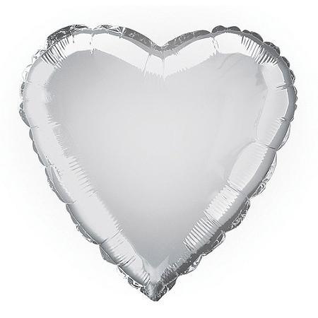 Balão coração prateado