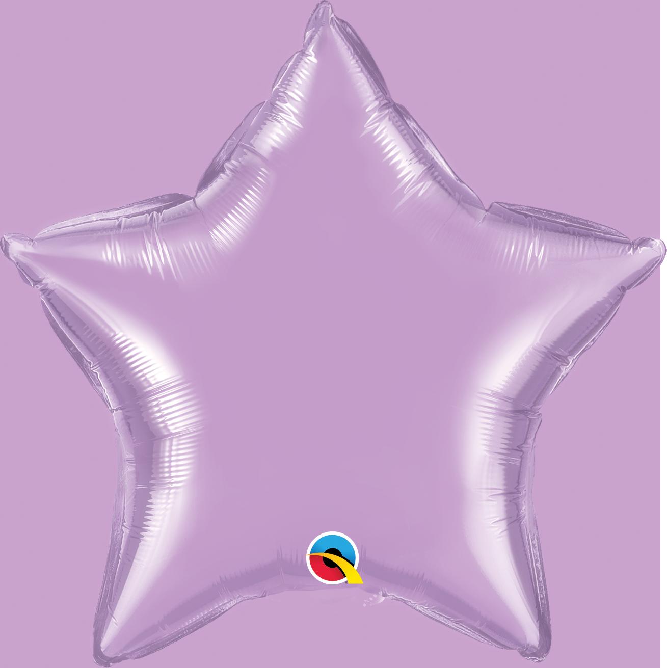 Balão estrela lavanda