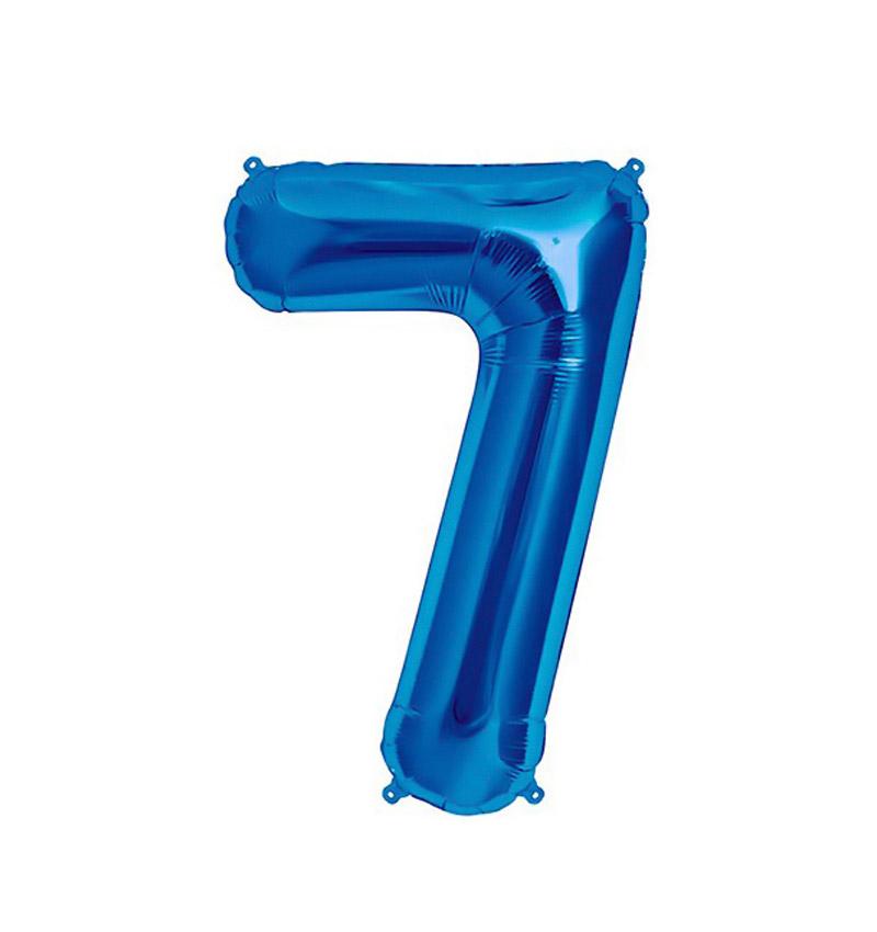 Balão numero 7 azul