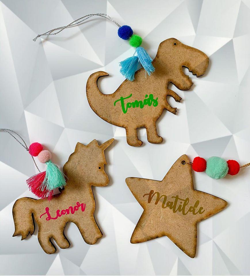 Ornamento dinossauro personalizado