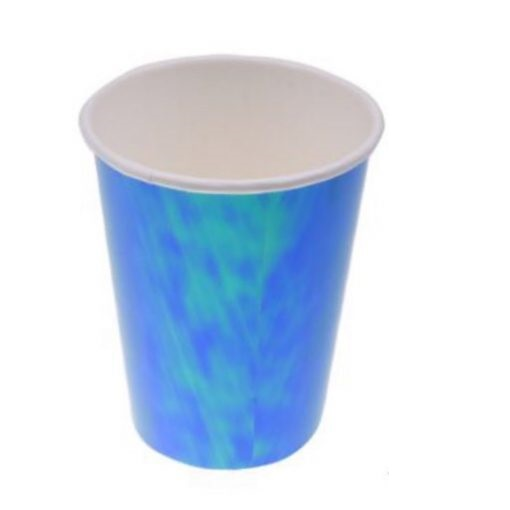 Copos azul iridescentes