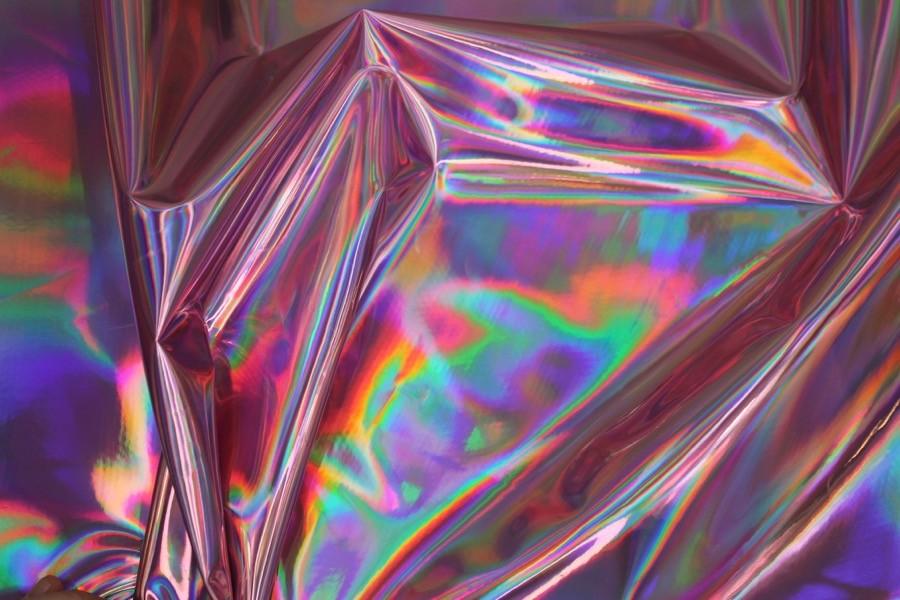 Toalha lilás iridescente
