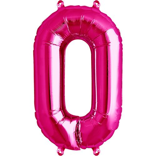 Balão numero 0 rosa