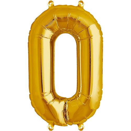 Balão numero 0 dourado