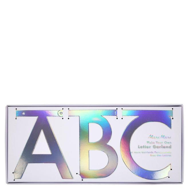 Grinalda letras holográfica