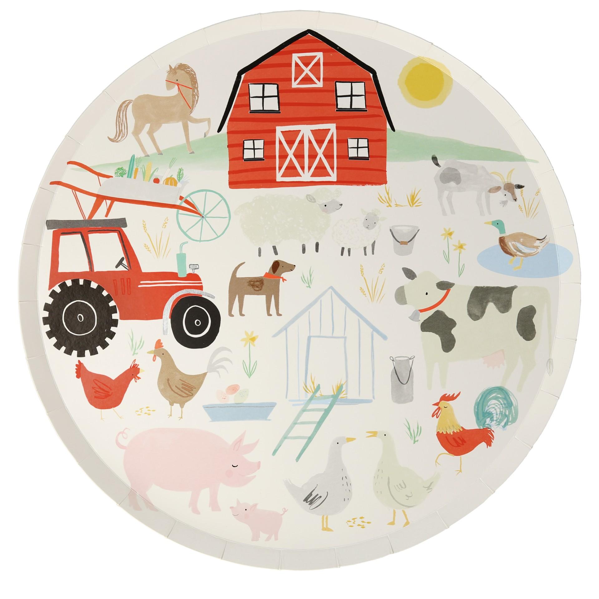 Pratos animais da quinta